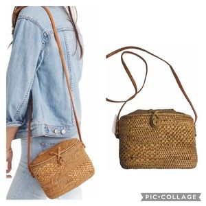 MADEWELL Folk Fortune Bali Rattan Top-Lid  Bag